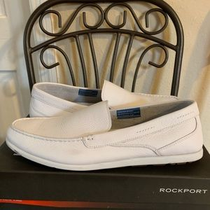 washable white Rockports size 11 leather upper